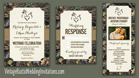 camo wedding invitations to make camo wedding invitations vintage rustic wedding invitations