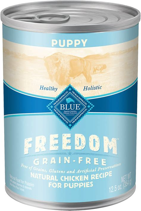 blue buffalo freedom puppy blue buffalo freedom puppy chicken recipe grain free canned food 12 5 oz of