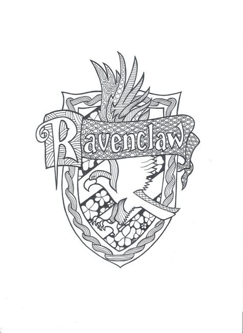 coloring pages harry potter ravenclaw harry potter ravenclaw pdf coloring page