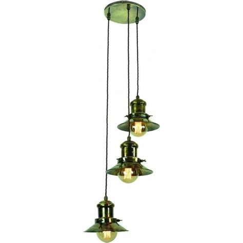 3 Light Ceiling Pendant Cluster In Industrial Natucial Styling Cluster Ceiling Lights