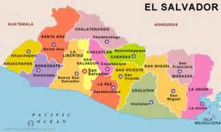 Central America Map El Salvador by Free El Salvador States Map States Map Of El Salvador
