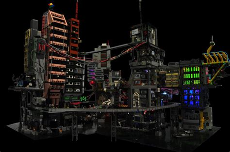 Home Inc Design Build by Cyber City A Modular Lego Cyberpunk Diorama Make