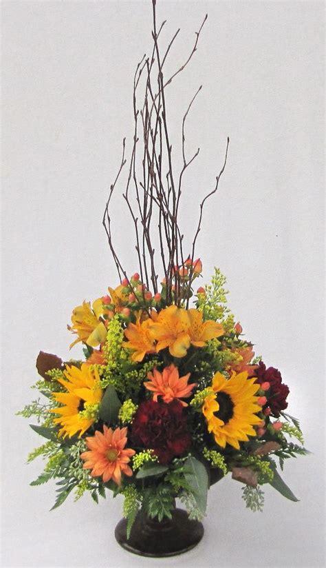 fall flower arrangement picture  dietz flower shop
