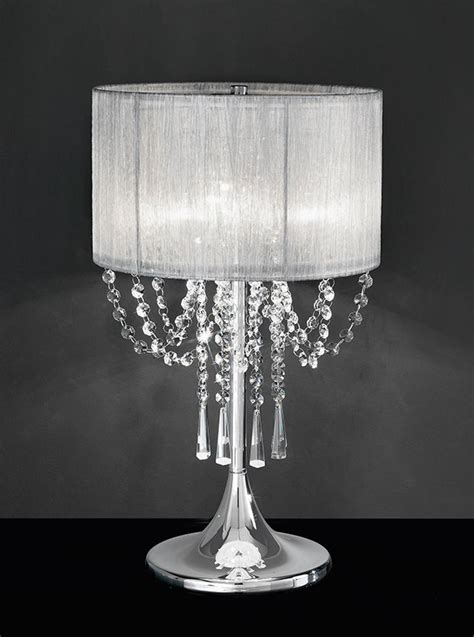 table l shade with crystal droplets tl970 empress table l chrome crystal with a fabric