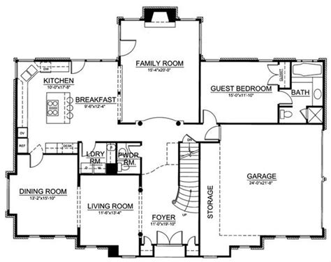 somerset floor plan somerset 8029 4 bedrooms and 3 baths the house designers