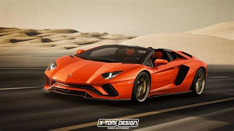 lamborghini 2018 aventador 2018 lamborghini aventador s roadster gets rendered
