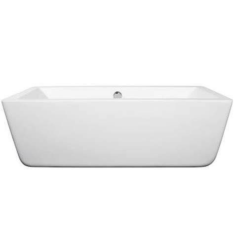 58 Bathtub Home Depot by Wyndham Collection 5 58 Ft Center Drain Soaking Tub