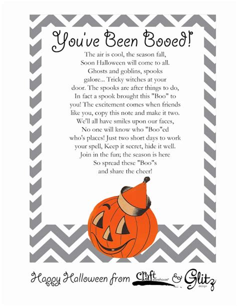 printable you ve been booed poem craft warehouse blog