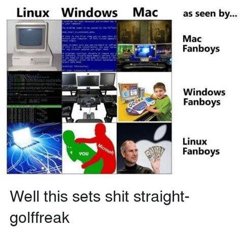 linux windows mac as seen by mac fanboys windows fanboys