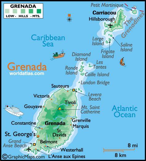 map of grenada island caribbean travel grenada directory caribbean tour