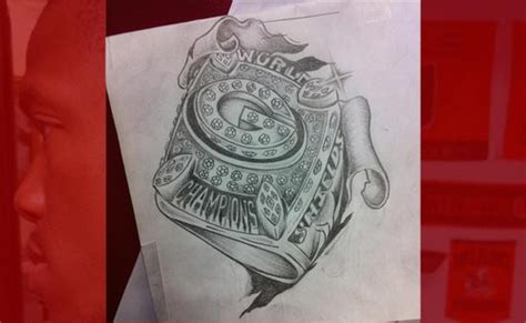 tattoo shops in green bay gb packers stud gets bowl ring tmz