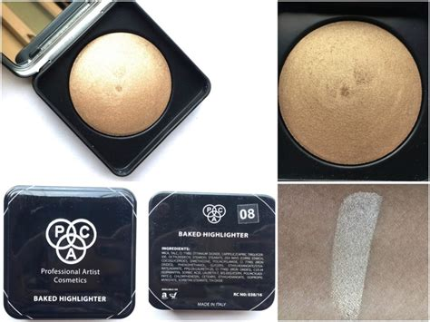 Makeup Pac Pac Cosmetics Baked Highlighter 08 Review Swatches