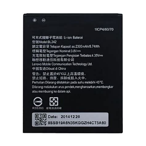 Lenovo A6600 Baru jual lenovo original battery for lenovo a6600