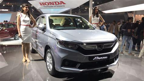 honda amaze all new honda amaze unveiled at auto expo 2018 details