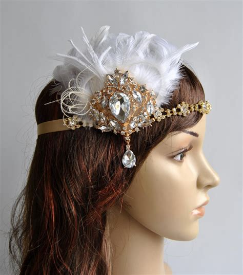 gatsby headpieces ready to ship gold 1920 s gatsby headpiece chamagne gold