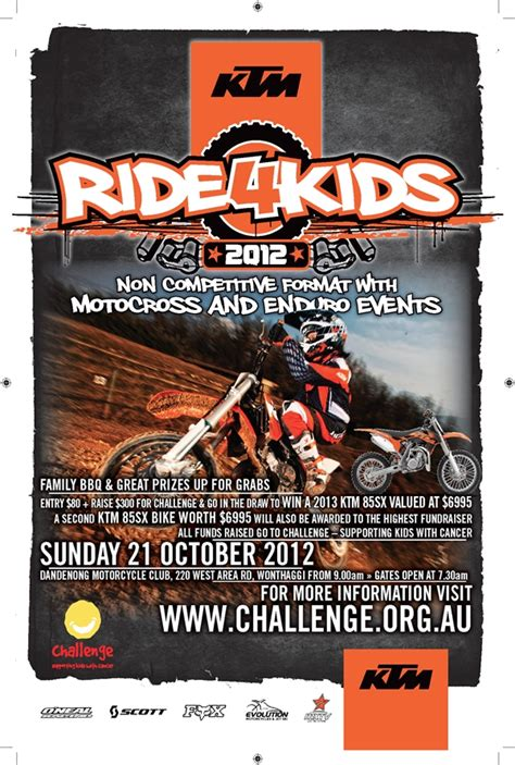 Ktm Posters Dirt Bikers Rev Up Their Engines For With Cancer