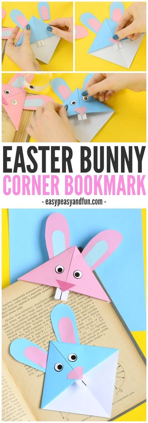 Easy Origami Easter Bunny - easter bunny corner bookmark diy origami for