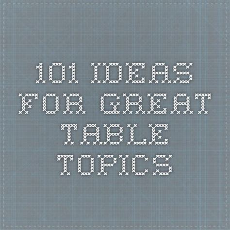 table topics for best 25 table topics ideas on conversation