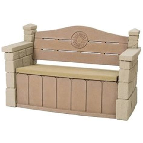 outdoor bench lowes shop step2 outdoor storage bench at lowes com