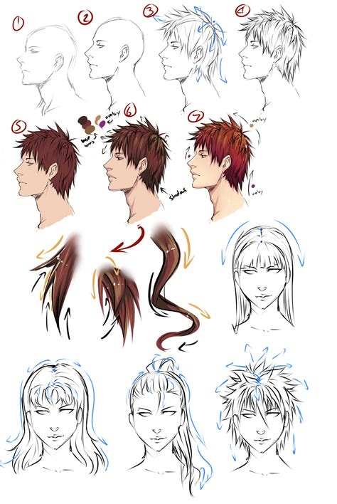 anime hairstyles on humans drawing anime hair by moni158 on deviantart