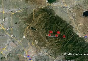 silverado california map california silverado wildfire today