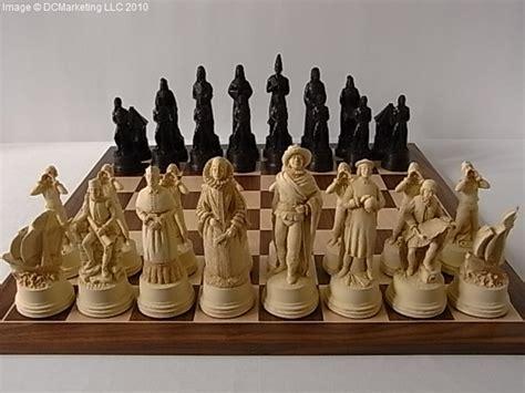 theme chess sets christopher columbus plain theme chess set