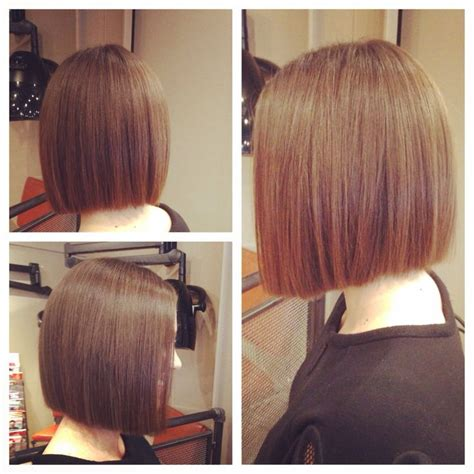triangle one length bob with one length bob hair pinterest bobs the shoulder and
