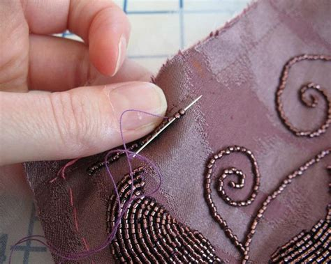 beading on fabric tutorial 17 best ideas about bead embroidery tutorial on
