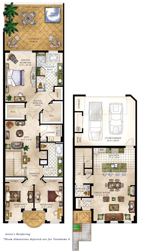 floor plan townhouse townhomes floorplans 171 floor plans