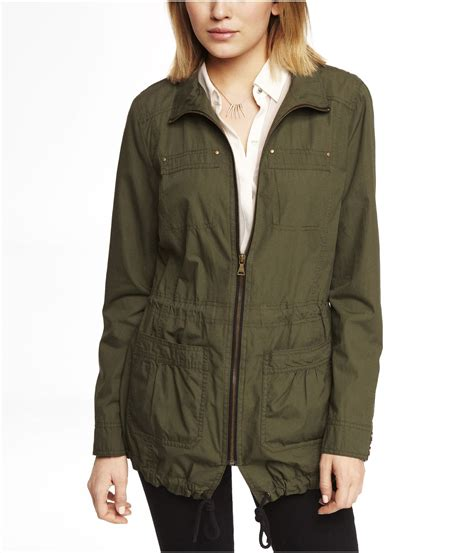 York Weight Bench Express Cotton Anorak Jacket In Green Light Olive Lyst