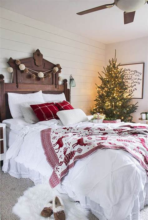 how to decorate your bedroom for christmas cozy christmas bedroom decorating ideas festival around