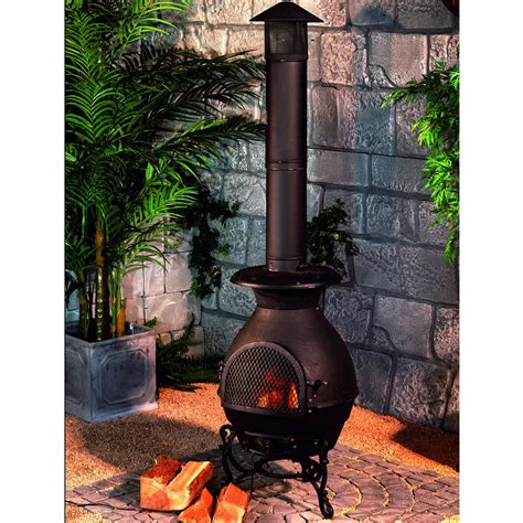 How To Build A Chiminea Chiminea Burner Black