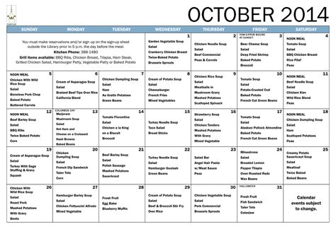 Search Results For Monthly Dinner Menu Planner Template Calendar 2015 Assisted Living Menu Template