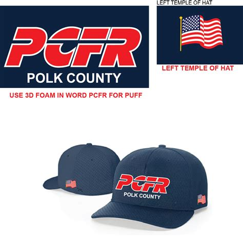 design lab polk county richardson pro mesh fitted hat navy polk county fire rescue