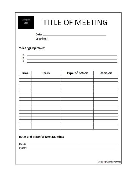Meeting Agenda Template Exles Vlashed Meeting Layout Template