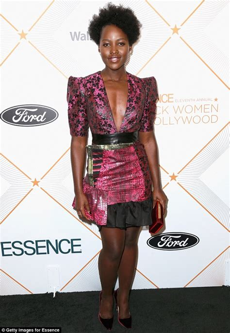 Pattern Lupita Dress lupita nyong o joins at black in oscars lunch daily mail