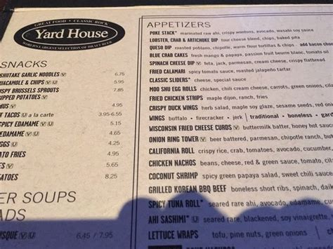 yard house menu front area picture of yard house miami beach tripadvisor