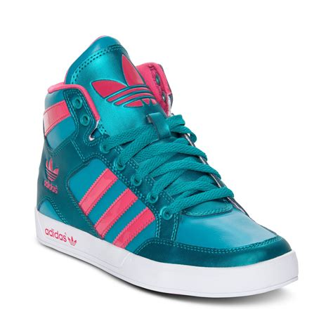adidas womens high top sneakers adidas hardcourt high top casual sneakers in green blast