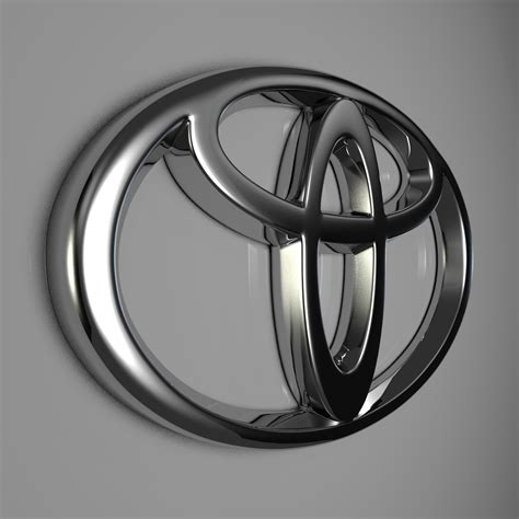 cool toyota logos toyota logo by reticulum 3docean