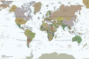 map country world map with countries free large images