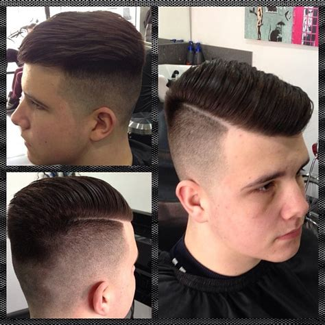 barber haircut styles sideparting skinfade pushback quiff barber