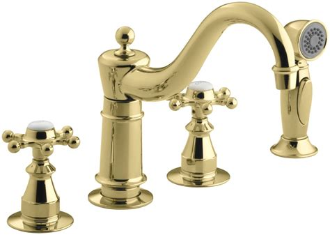 kohler brass kitchen faucets faucet k 158 3 pb in polished brass by kohler