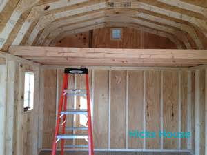 how to build a shed loft hicks house