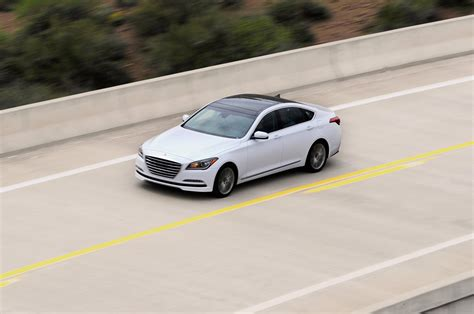 2015 hyundai genesis sedan in white on bridge photo 12