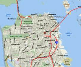 california map san francisco san francisco city tourist maps pictures california map