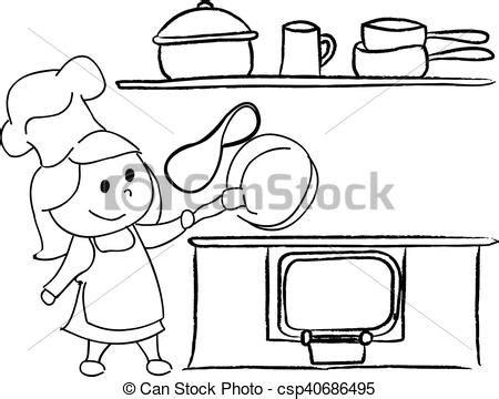 keuken tekening meisje tekening keuken meisje keuken het wegknippen
