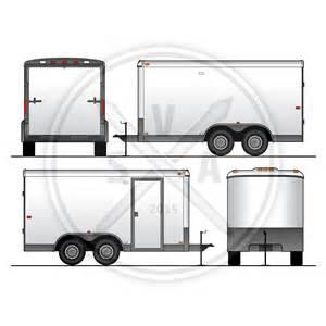 trailer templates utility trailer vehicle outline stock vector