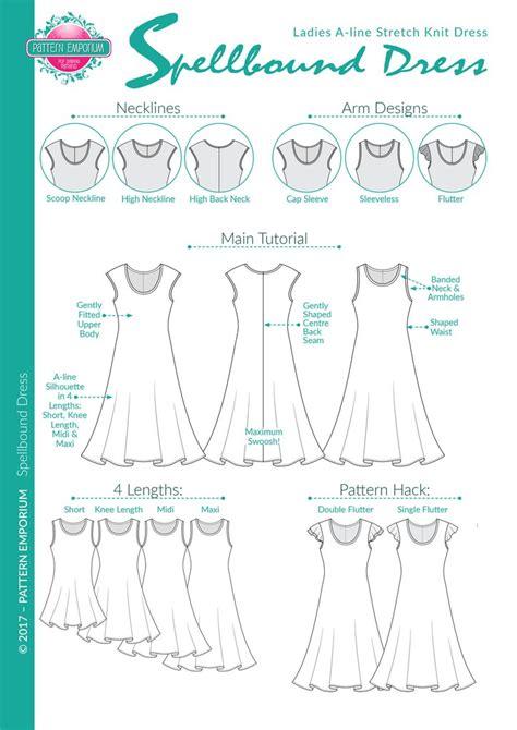pattern emporium spellbound ladies fit flare dress for stretch knit fabrics