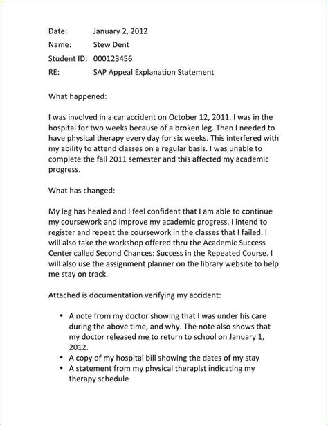 exle of financial aid appeal letter sap letter jpeg