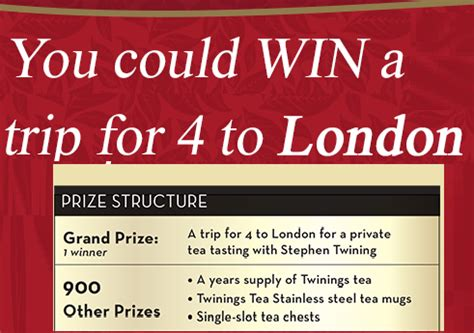 Twinings London Sweepstakes - twinings tea giveaway 900 winners win twinings tea tea chests tea mugs year